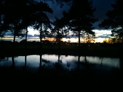 Dusk you and me (GOHughes) Tags: light sunset sky nature reflections landscape countryside pond dusk sillouette garth