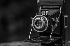 Vintage camera. (christian.grelard) Tags: camera blackandwhite bw monochrome canon vintage lens eos 50mm noiretblanc nb collection bellows ancien objectif objective appareilphoto soufflet 700d canonfrance