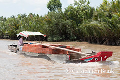 Life on the delta (10b travelling) Tags: water river asian boat asia asien southeastasia vietnamese bricks delta vietnam transportation asie mekong indochine indochina 2015 bentre tenbrink carstentenbrink iptcbasic 10btravelling