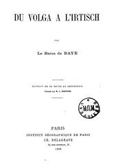 1896. Baye, Joseph de. Du Volga a l'Irtisch__04 (Library ABB 2013) Tags: rsl 1896   bayejoseph