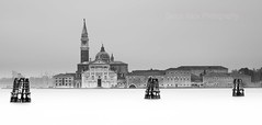 San Giorgio  Maggiore (simonvaux1) Tags: city venice italy white holiday black simon beautiful sunshine st boats mono canal nikon long exposure raw grand palace full marks frame stunning romantic gondola venetian fx waterways doges d800 vaux