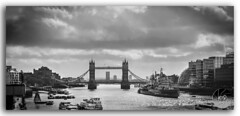 London Tower Bridge on the River Thames! (KS Photography!) Tags: street city travel bridge england sky urban blackandwhite bw panorama building london english heritage history monument water monochrome silhouette horizontal stone skyline architecture clouds contrast skyscraper towerbridge vintage boats photography mono blackwhite ancient nikon europe downtown european cityscape riverside symbol unitedkingdom britain outdoor dusk flag traditional famous capital perspective culture streetphotography vessel landmark panoramic international national transportation drawbridge british yachts iconic riverthames nikondigital ages ferries cloudscape toweroflondon southwark attraction destinations streetsoflondon photoborder 35mmf18g cloudsstormssunsetssunrises