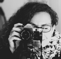 Selfie (VaneAreArt (almost off until october)) Tags: blackandwhite bw selfportrait canon bn autorretrato canoneos50d