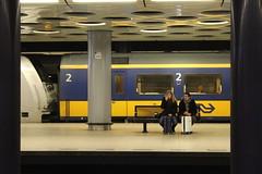 Schiphol Airport, underground railway station (Davydutchy) Tags: holland netherlands station amsterdam train march airport gare capital hauptstadt nederland railway zug bahnhof schiphol paysbas trein niederlande 2016 hoofdstad