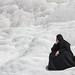 Mujer musulmana en Pamukkale, Turquía