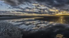 Open water again (Kari Siren) Tags: sunset panorama lake ice water finland spring melt jaala karijarvi