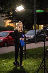 Suzana (Alja Ani Tuna) Tags: woman girl night nikon live press journalist standup poptv nioknd800