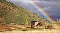 Depois da chuva (Carlos Henrique Pereira) Tags: autumn light patagonia color fall luz nature argentina arcoiris clouds rainbow natural natureza naturallight nuvens cor outono luznatural