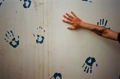 *** (Boris Rozenberg) Tags: blue white art film wall analog 35mm hands friend pattern hand kodak finger buddy ishootfilm prints tatoo praktica compact compactcamera kodakfilm filmphotography kodakcolor filmcommunity
