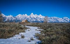 """""""Go Outside (bobbyz95) Tags: mountains barn outside nationalpark unitedstates wyoming tetons grandteton grandtetonnationalpark jacksonwyoming moosewyoming"""