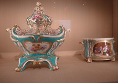 New York. The  Metropolitan Museum of Art. Beautiful collection of Sevres French porcelain in Celeste Blue colouring. (denisbin) Tags: newyork art museum ew metropolitanmuseumofart tureen sevres yorksevresporcelainchinasalonmetropolitan