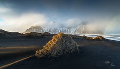 Jour de tempte  Stokksnes (Mathieu Rivrin - Photographies) Tags: ocean light sunset sea mountain storm iceland rainbow nikon islande d800 tempte stokksnes rivrin