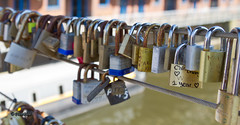 Love Locked,Brewery Wharf,Leeds (cnosni) Tags: bridge love leeds wharf padlocks brewet