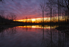 Post Rain (Matt Champlin) Tags: life sunset fish storm reflection home nature clouds rural canon spring fishing pond colorful peace dynamic peaceful stormy frogpond springtime 2016 toadpond