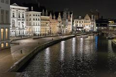 Korenlei in Gent (Rainer ) Tags: color night belgium belgique belgie explore ghent gent gand leie gante belgien vlaanderen oostvlaanderen korenlei flandre xf35 rainer