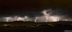 Summer Lightning Ft Collins Colorado (Bryan Maltais) Tags: mountains weather night landscape nikon colorado panoramic rockymountains lightning d800