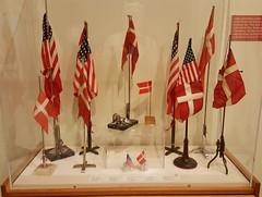Danish flags with U.S. flags - Grandma & Grandpa Madsen displayed both proudly