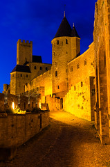 Hora azul en Carcasona. (yetycola) Tags: france francia carcassonne carcasona horaazul