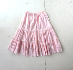 1960s pink flower embroidered eyelet petticoat, from Komar Lingerie (Small Earth Vintage) Tags: pink 60s lingerie slip 1960s petticoat crinoline vintageclothing vintagefashion smallearthvintage komarlingerie