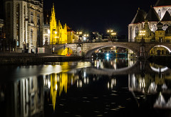 P4230139.jpg (simone.celli) Tags: fiume ponte acqua ghent viaggio belgio riflesso