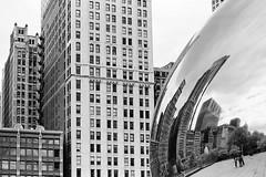 The Bean - Eastman Week (magnus.joensson) Tags: blackandwhite usa chicago monochrome zeiss 50mm nikon kodak f14 dream 11 american carl handheld fe eastman nikonfe xtol doublex handrolled 5222 selfdevelop limitedsupply zf2