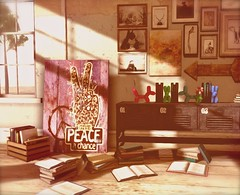 ...give peace a chance... (lindini2) Tags: interior sl secondlife whisperingwind l2studio jamaicabeachhouse