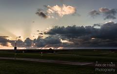 DSC_6637_Lr-edit (Alex-de-Haas) Tags: light sunset reflection netherlands clouds landscape fire licht zonsondergang nederland thenetherlands wolken dyke dijk dike landschap noordholland vuur reflectie petten coastalarea spreeuwendijk kunstgebied