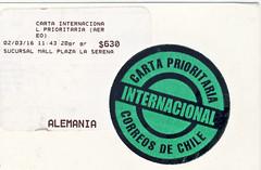 Chile (postcardlady1) Tags: stamp briefmarke