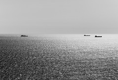 Horizon is where the skies meet the earth. And we exist somewhere in between. Shipping cargos, thinking of flying, and loneliness, or nothing at all. Will it all make sense one day? I hope not (jev) Tags: leica sea sky blackandwhite newyork monochrome horizontal brooklyn mono waves ship ships transport rangefinder cargo transportation atlanticocean watercraft jfkairport m9 shippingcontainer watertransportation leicam9 leicaleitz90mmf28teleelmarit
