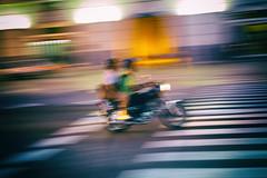 Havana Evenings (Fuji and I) Tags: street city blur evening traffic zoom dusk havana cuba motorcycle panning alexarnaoudov