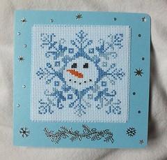 Christmas card 8 (Polly's Lady) Tags: christmas crossstitch noel newyear pointdecroix nouvelan pontocruz puntocroce kreuzstitch