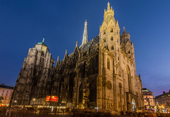 St. Stephen's Cathedral (MrProd) Tags: vienna wien christmas xmas city blue light building skyline architecture night season austria nikon europe long exposure advent cathedral time tokina hour stephansdom stephens available 1116 d7200