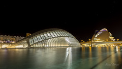 Looking ahead / Mirada al futuro (Hornisterol) Tags: valencia arquitectura ciudad enero estrellas nocturna artes ciencias 2016 futurista manueljrrega