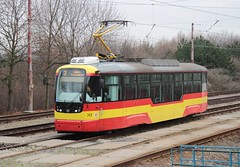 Most-Litvnov tram 315 Most railway station (jc_snapper) Tags: tram most streetcar strassenbahn tramvaj pragoimex mostlitvnov