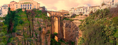 Panorama de Ronda (ramon.1136) Tags: espaa spain 500v20f ngc andalucia ronda puentenuevo golddragon