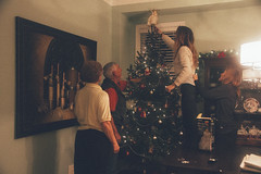 Catch Me (adrienna.elcome) Tags: christmas family selfportrait tree home angel warmth warmlighting