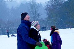 Winter (Natali Antonovich) Tags: park christmas winter portrait snow nature couple frost belgium belgique belgie pair profile lifestyle together harmony tradition relaxation sled sleding sledging accordance lahulpe christmasholidays heandshe