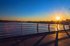 Sunset view from Nature bridge over Karun river. (sona.eskandarnezhad) Tags: bridge sunset sun river cityscape iran bluesky sunsetview sunflares naturebridge karunriver ahvazcity
