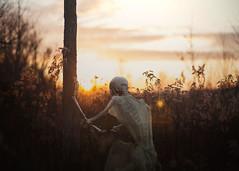 Ever After. 140/365 (aleah michele) Tags: sunset field fairytale skeleton skull golden quiet sad romance tragedy ribs bones ribcage bone 365 conceptual tragic goldenhour backbone everafter happilyeverafter 365project conceptualportrait aleahmichele winterbones aleahmichelephotography delicatebones skeletonindress