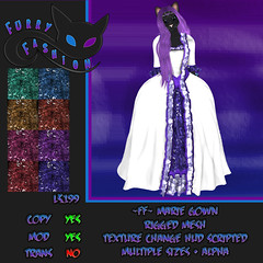 Furry Fashion Marie Gown (furry.fashion) Tags: life fashion marie fix clothing furry womens secondlife second gown
