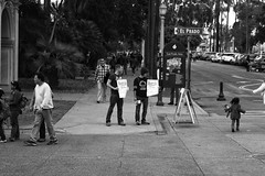Feel the Bern? (thisbrokenwheel) Tags: street election politics demonstration campaign berniesanders