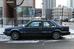 Italian Flair (Flint Foto Factory) Tags: street city blue winter urban italy snow chicago beautiful volvo illinois italian sweden granville 1987 parking north 1988 january swedish neighborhood parked 1991 1989 sheridan curb import kenmore coupe edgewater 1990 styling linear bertone curbside 2016 2door blocky 780 automaker worldcars