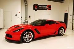 c7_z06_z07_esoteric_312 (Esoteric Auto Detail) Tags: corvette esoteric z06 detailing hre c7 torchred akrapovic p101 suntek z07 gyeon paintprotectionfilm paintcorrection bestlookingcorvette z06images