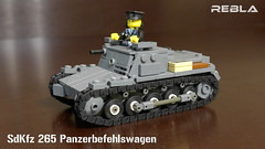 SdKfz 265 Panzerbefehlswagen (Rebla) Tags: world 2 war lego wwii german ww2 135 265 sdkfz rebla panzerbefehlswagen brickizimo