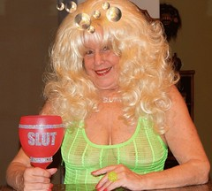 Ann (absindopfer1960) Tags: green drink longhair bighair blonde seethrough hedonism seethru sheer thetravelslut