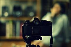 Shooting film. (Behind the scene). (samuel.musungayi) Tags: camera light portrait black color film analog 35mm photography nikon focus noir photographie natural lumière scene samuel couleur flou argentique naturelle samuelm musungayi samuelmusungayi