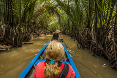 Rowing up a canal (tatlmt) Tags: river asia charlotte vietnam mekongdelta
