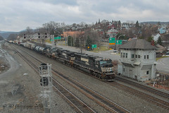 NS EMD SD70M #2582 @ Altoona, PA (Darryl Rule's Photography) Tags: winter snow tower heritage clouds train pc pennsylvania ns trains pa signals pennstate ge alto freight cpl psu freighttrain altoona norfolksouthern summerhill cresson emd intermodal westslope pennsylvaniarailroad pennsy penncentral dpu heritageunit
