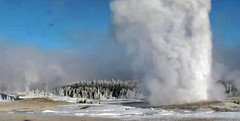 Old Faithful Geyser eruption (8:46-8:49 AM, 9 February 2016) 1 (James St. John) Tags: old volcano group basin upper yellowstone wyoming geyser eruptions erupt eruption hotspot erupting faithful