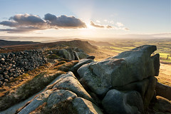 Rylstone Fell (matrobinsonphoto) Tags: winter light sunset outcrop sun sunlight nature beautiful wall landscape grit golden evening hall scenery rocks view cross stones yorkshire hill north rocky hills millstone valley hour fell watt dales skipton wharfedale pendle crag cracoe rylstone